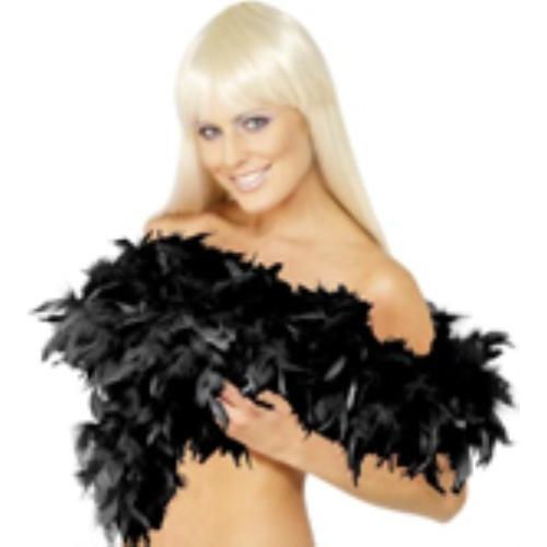 black Feather Boa 200cm fancy dress accessory