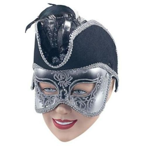 Fancy Dress Deluxe Black Pirate Masquerade Mask
