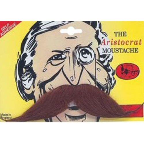 Aristocrat Brown Fancy Dress Moustache