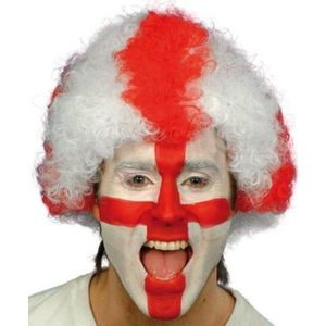 England St George Cross Pop Wig (Red & White)