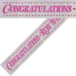 Congratulations-Ruby Wedding Banner