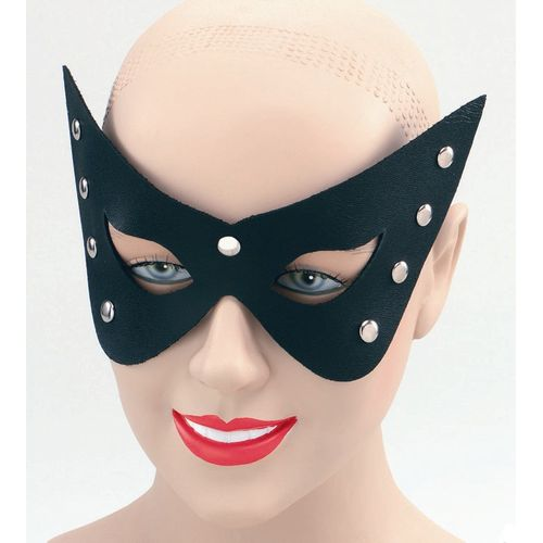 Fancy Dress Sexy Black Leather Look Masquerade Eye Mask