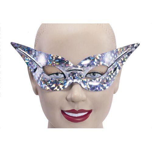 Fancy Dress Silver Domino Flyaway Eye Mask Masquerade
