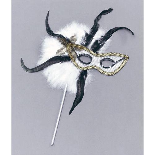 Fancy Dress Feather Domino Masquerade Eye Mask