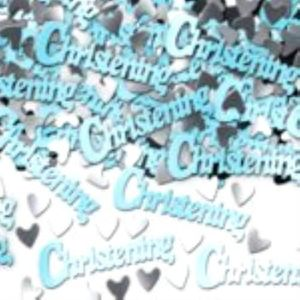 Christening Blue Foil Confetti