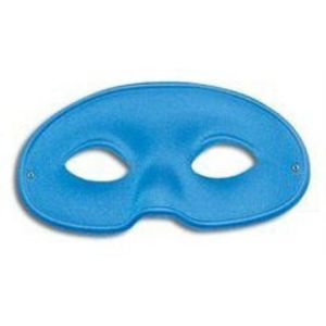 Gents Large Domino Eye Mask (Blue)