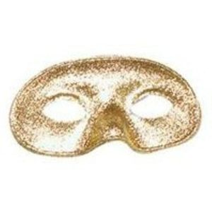 Glitter Domino Eye Mask (Gold)