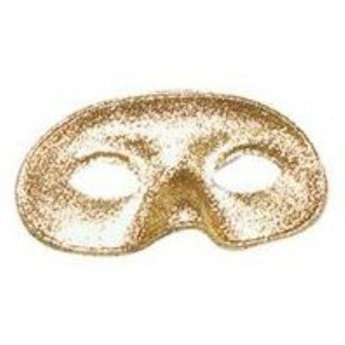 gold glitter domino masquerade eyemask