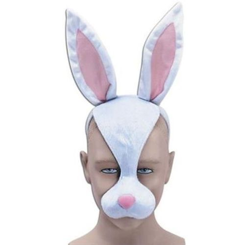Noisy Rabbit Mask On Headband Animal Fancy Dress Costume Accessory