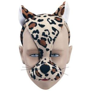 Noisy Leopard Animal Mask On Headband