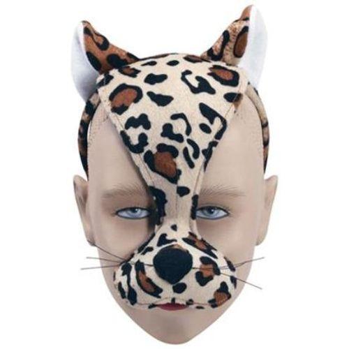 Fancy Dress Noisy Leopard Animal Mask On Headband