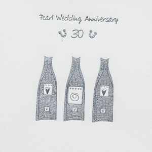 Pearl Wedding Anniversary Invitations & Envelopes x 6