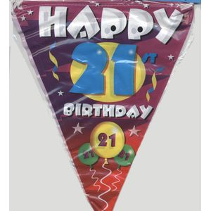 21st Birthday Party Flag Banner