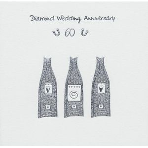 Diamond Wedding Anniversary Invitations & Envs 6 Pack