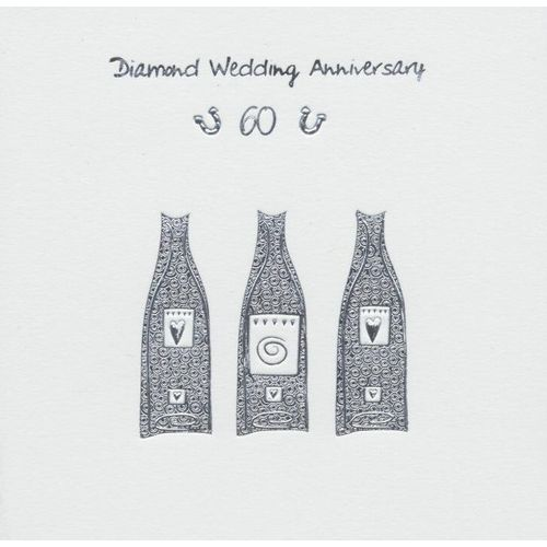 Diamond Wedding Anniversary Invitations & Envelopes 6 Pack