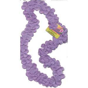 "Hawaiian Lei Collier Flower Garland 40"" (Lilac)"