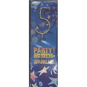 Sparkler Candle Number 5