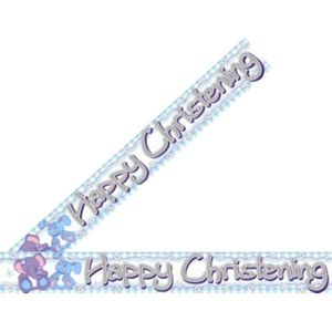 Happy Christening Banner (Blue)