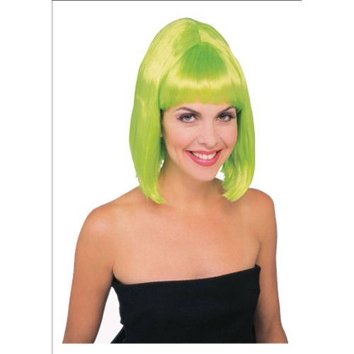 Lime Green 1960`s Starlet Fancy Dress Wig
