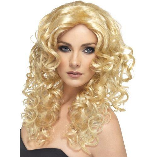 Blonde Wavy Shoulder Length Fancy Dress Adult Glamour Wig