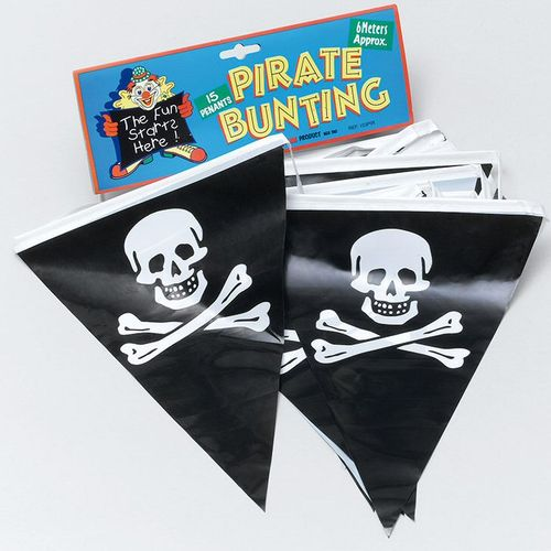 party Bunting-Pirate15 Flags Approx 6 Metres