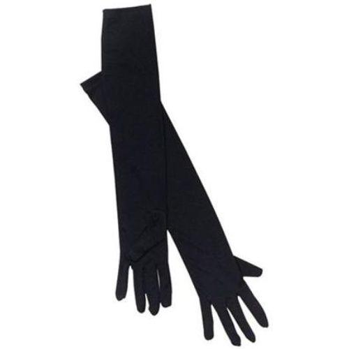 Long Black Fancy Dress Gloves