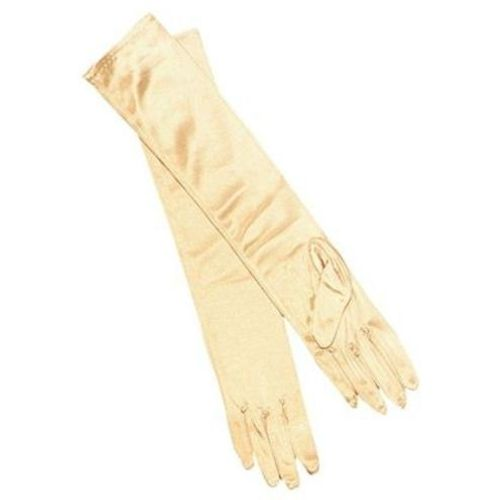 Gold Lame Long Opera Gloves Fancy Dress Accessory