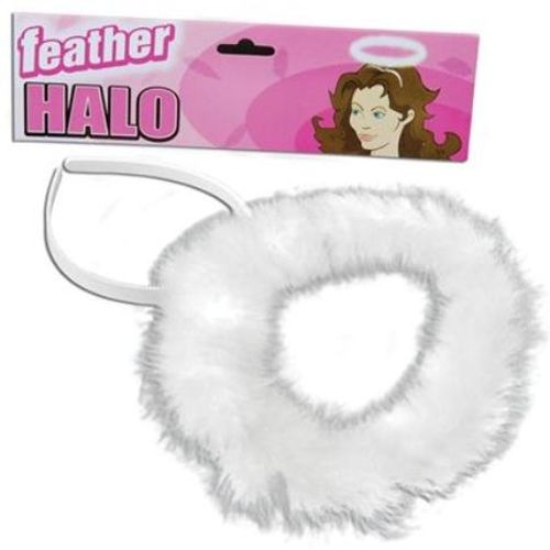 White Feather Halo Christmas Fancy Dress Accessory