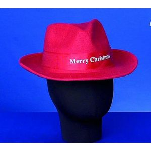 Merry Christmas Trilby Hat (Red)