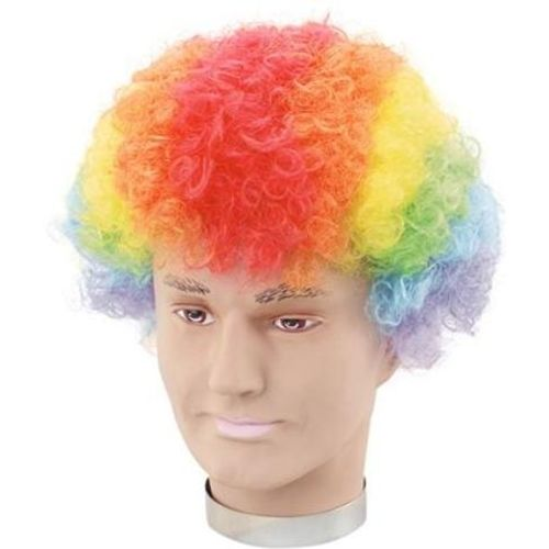 Fancy Dress Rainbow Pop Clown Wig Accessory