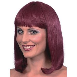 Cheerleader Wig (Burgundy)