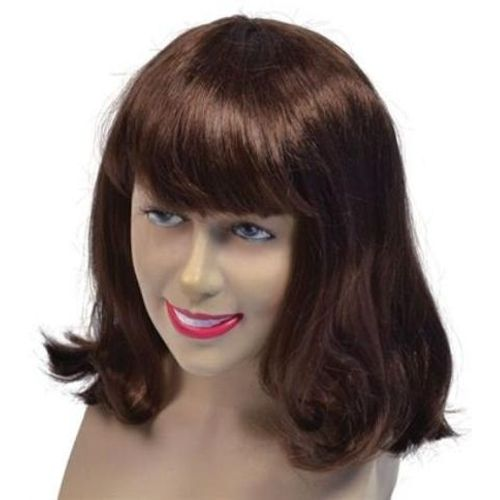 Brown Cheerleader Style Fancy Dress Wig