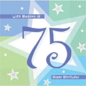 Life Begins 75 Napkins x 16