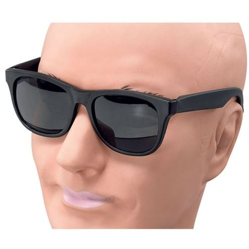 Gangster Style Black Fancy Dress Glasses