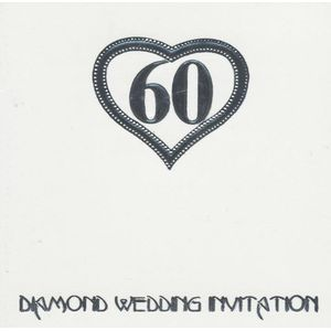 Diamond Wedding Invitations & Envelopes 6 Pack