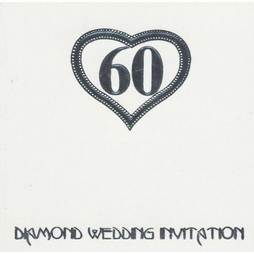 Diamond Wedding Invitations & Envelopes 6 Pack