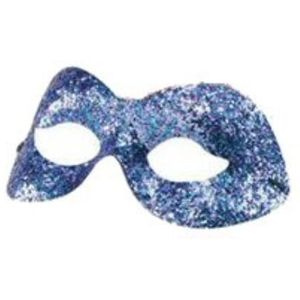 Sparkle Glitter Domino Mask (Purple)