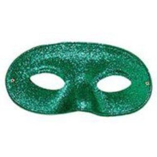 green glitter domino masquerade eyemask