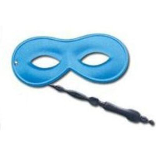 Blue Domino Eye Mask With Handle Masquerade Fancy Dress