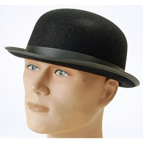 black felt bowler fancy dress hat