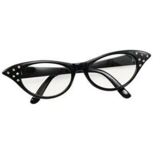Ladies 50s Style Glasses (Black)