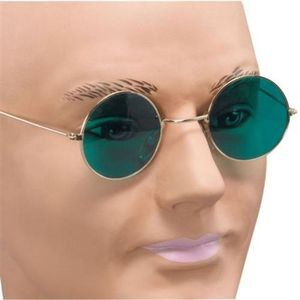 Round Framed Glasses (Green Lens)