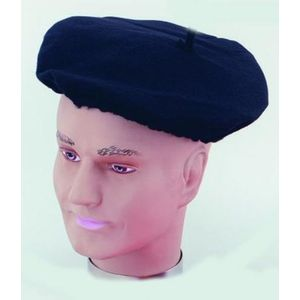 Polyester French Beret (Black)