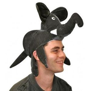 Elephant Animal Hat (Dark Grey)