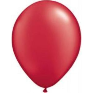 "Ruby Red Pearl Latex 11"" Balloons 20 Pack"