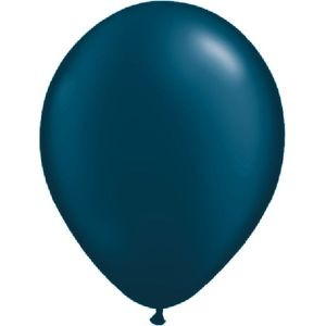 "Midnight Blue Pearl Latex 11"" Balloons 20 Pack"