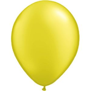 "Yellow Pearl Latex 11"" Balloons 20 Pack"