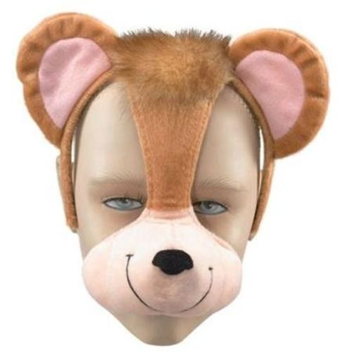 Fancy Dress Noisy Monkey  Animal Mask On Headband