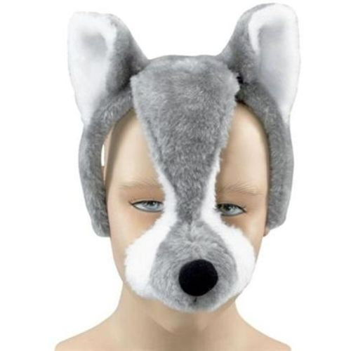 Fancy Dress And Halloween Noisy Wolf Animal Mask On Headband