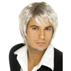 Boy Band Wig (Blonde/Silver Grey High Lighted)